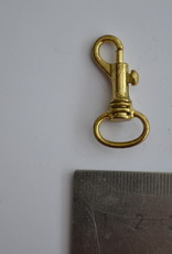 Musketonhaak 12mm goud