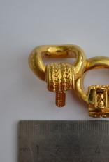 Exclusieve draagriembevestiging 15mm goud