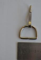 SC K Musketonhaak zilver +D-ring 25mm