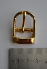 BUE Gesp 15mm goud met passant