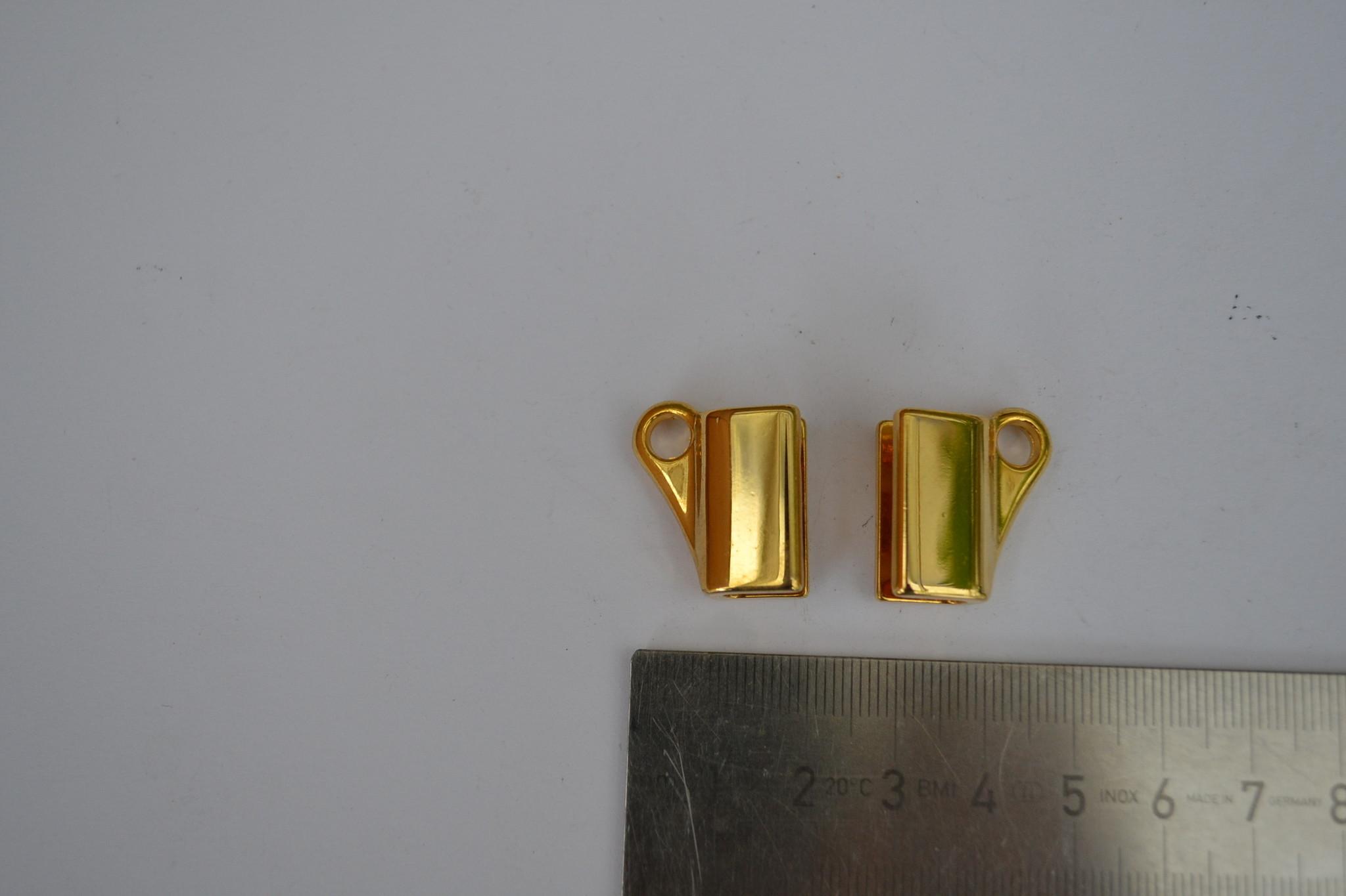 AB draagriembevestiging goud 5mm (per2)