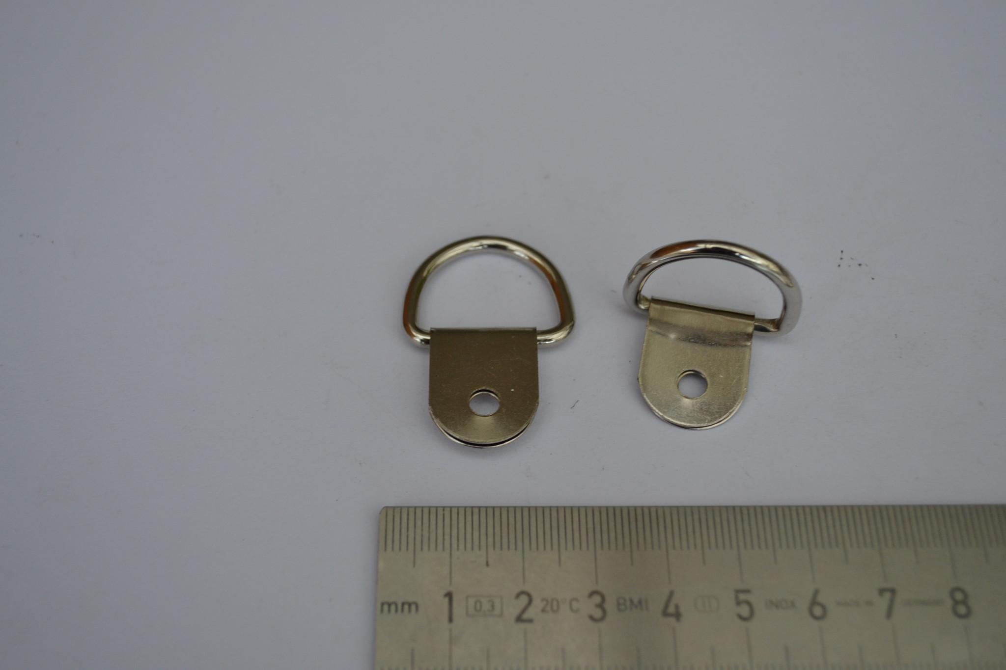 AG draagriembevestiging zilver 20mm