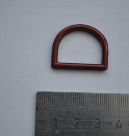 R129 D-ring bordeaux plastic 20mm