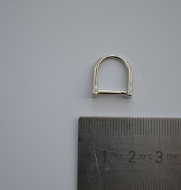 R80 D-ring zilver 10mm