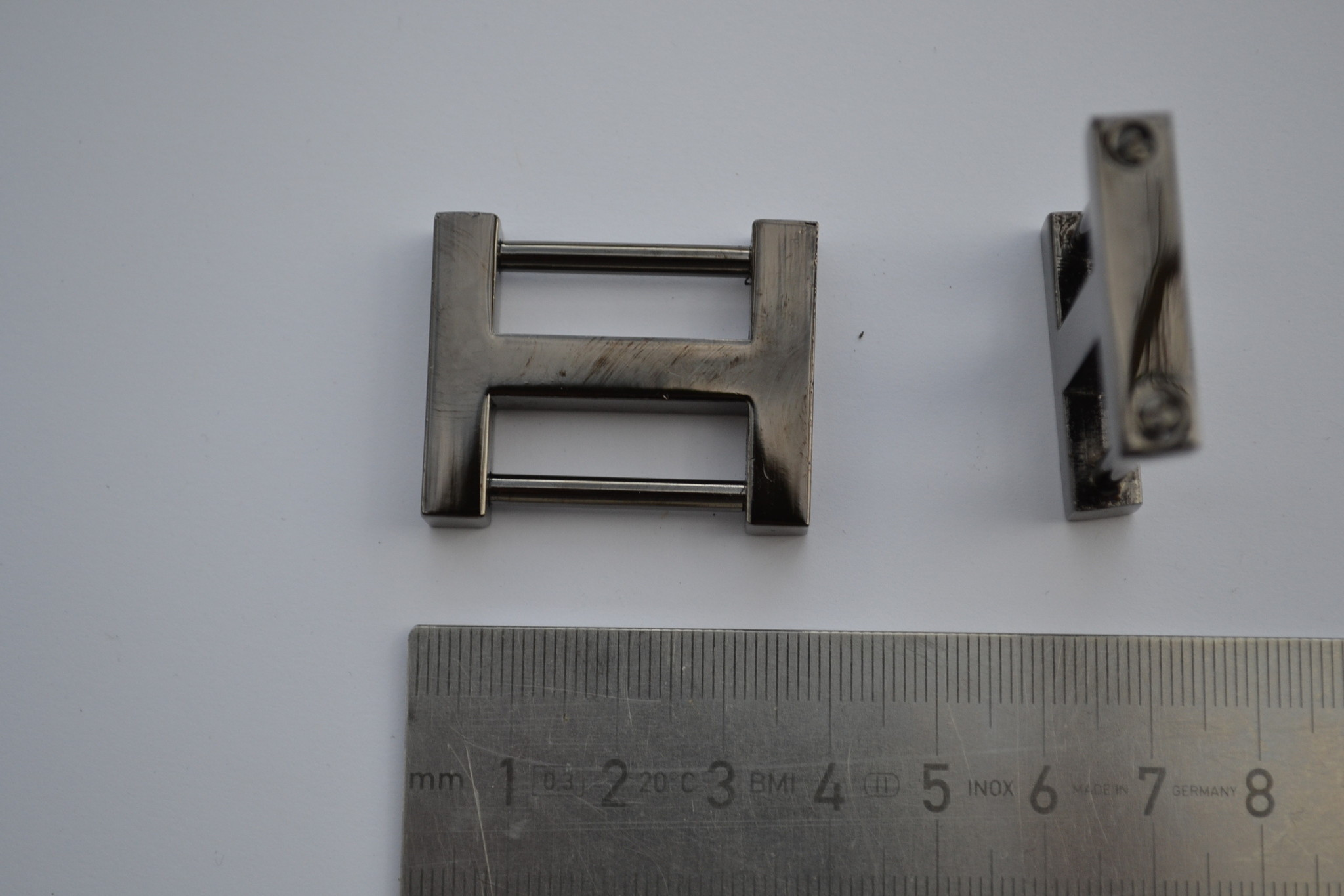 A 2 Draagriembevestiging gunmetal 25mm