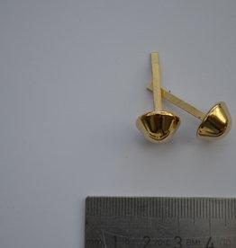 PO16 pootjes met splitpennen 14mm konisch  goud