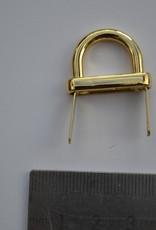 A61  Draagriembevestiging brug 15mm goud