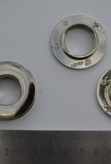 Rond oog zilver 15mm