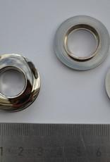 BUT24 Rond oog zilver 14mm
