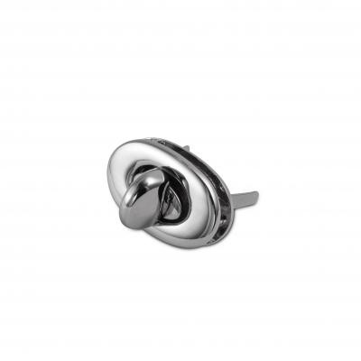 Ovale draaisluiting zilver