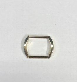 R61  Rechthoekige ring goud 25mm