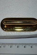 A91  Draagriembevestiging brug goud 40mm