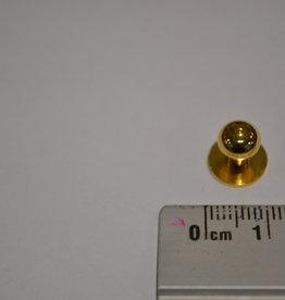 POM12 Geweerknopjes goud  3x7 kop 7 mm
