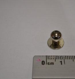 POM14 Geweerknopjes zilver  3x7 kop 7 mm