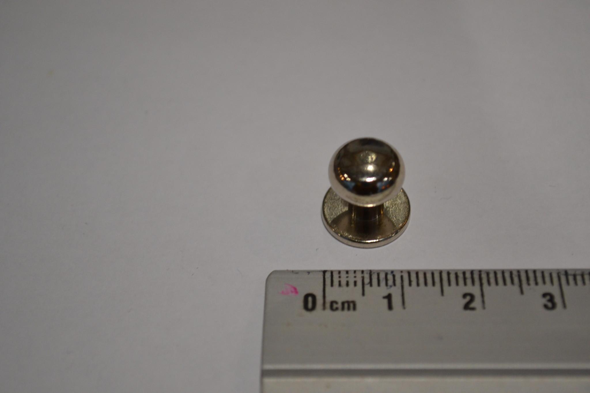 POM15 Geweerknopjes zilver  3x7 kop 10mm