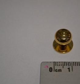 POM16 Geweerknopjes goud  3x7 kop 10mm