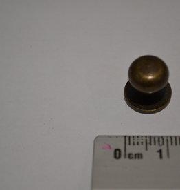 POM17 Geweerknopjes brons  3x7 kop 10mm