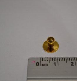 POM19 Geweerknopjes goud  3x7 kop 5.10mm