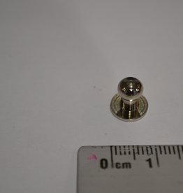 POM23 Geweerknopjes zilver  3x7 kop 6 mm
