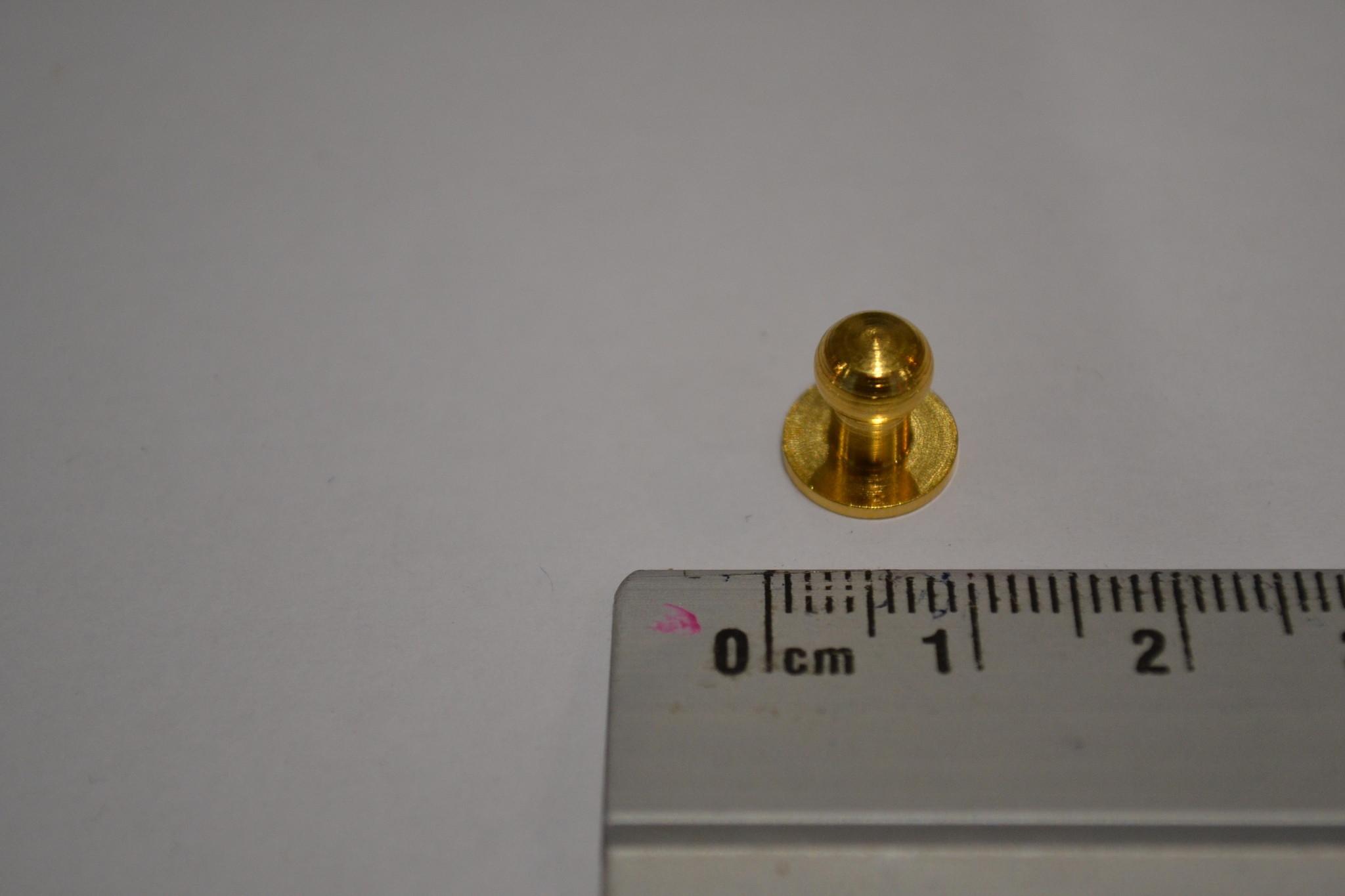 POM24 Geweerknopjes goud  3x7 kop 6 mm
