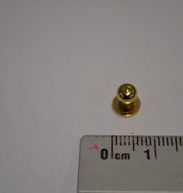 POM30 Geweerknopjes goud  3x5 kop 5 mm
