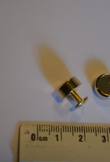 VR05 Sierknop met vijsjes rond 10mm goud