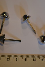 PO5 pootje met splitpennen 12mm konisch zilver