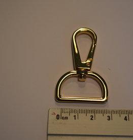 SC70 Musketonhaak goud 25mm