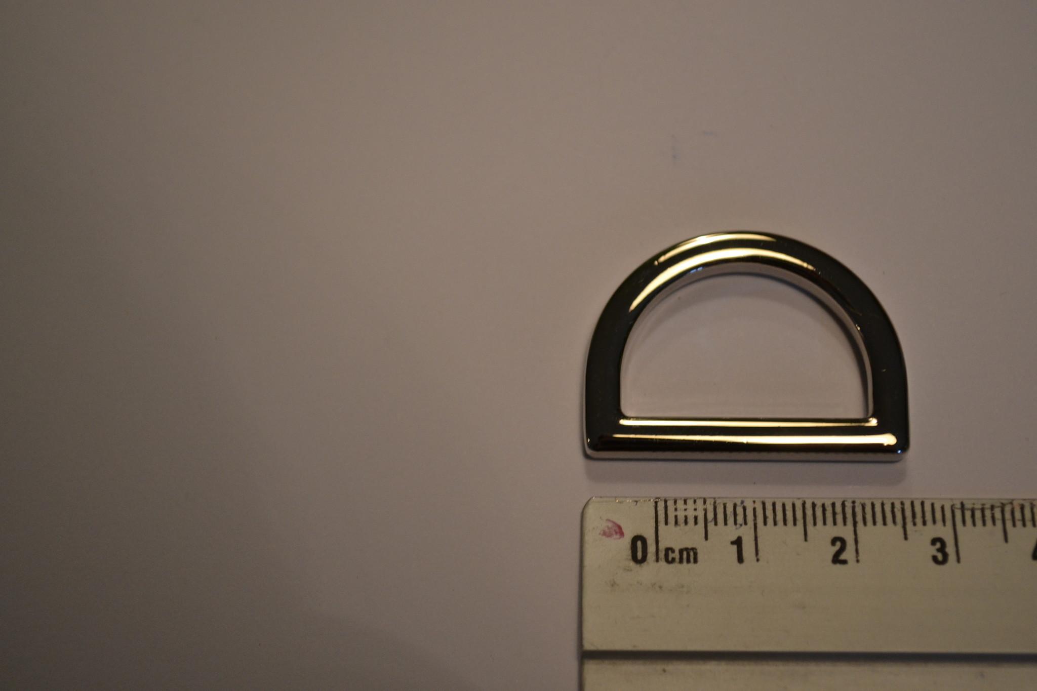 R42 D-ring zilver 25mm
