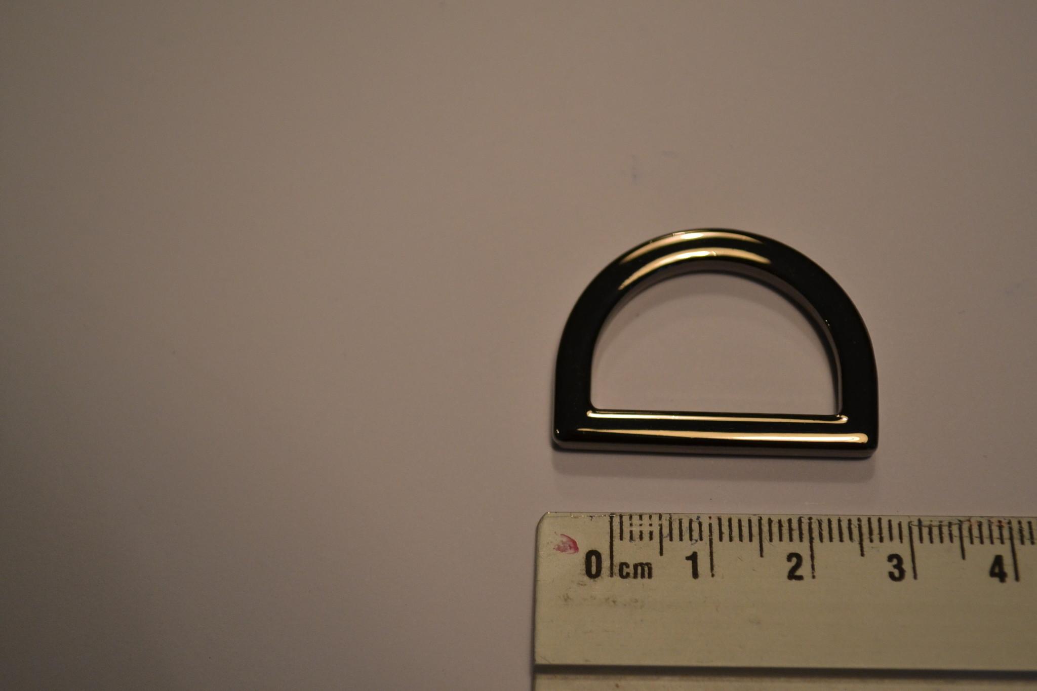 R63  D-ring gunmetal 25mm