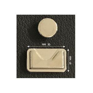 F51 Blinde sluiting zilver 30x18mm