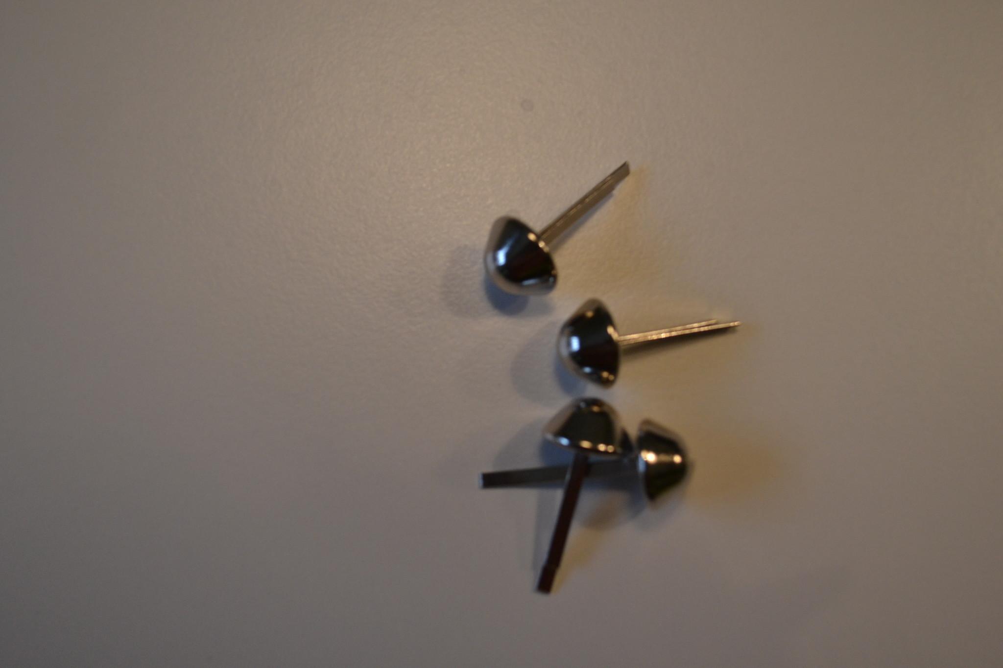 PO14 pootjes met splitpennen 14mm konisch  zilver