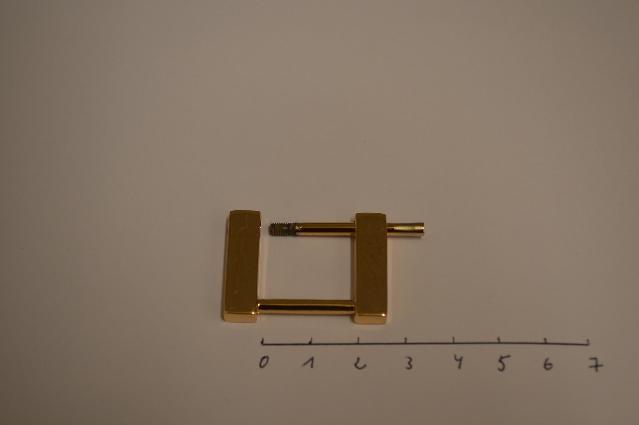 R134 vierkante ring   20mm rosé goud