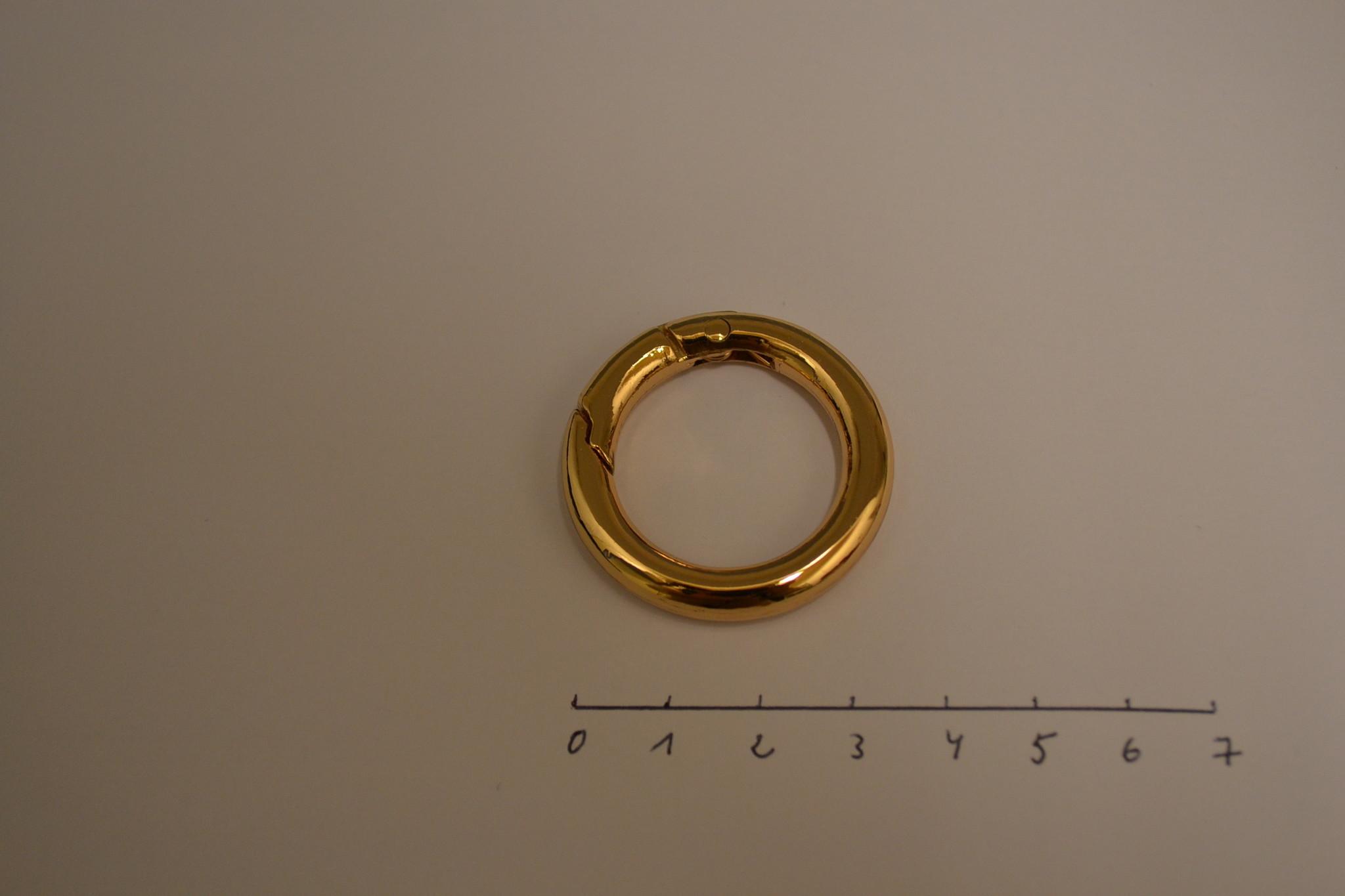R135 Ronde ring   22mm rosé goud