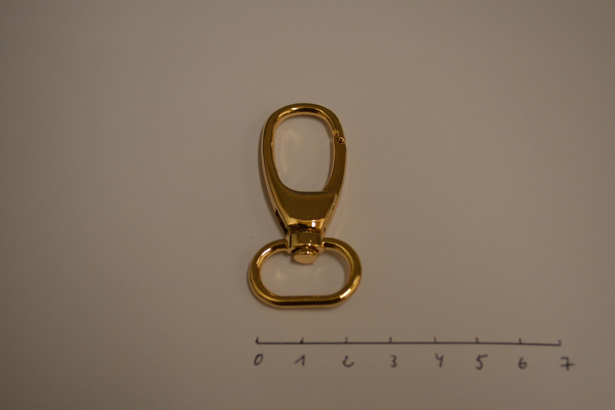 SC104 Musketonhaak 20mm rosé goud