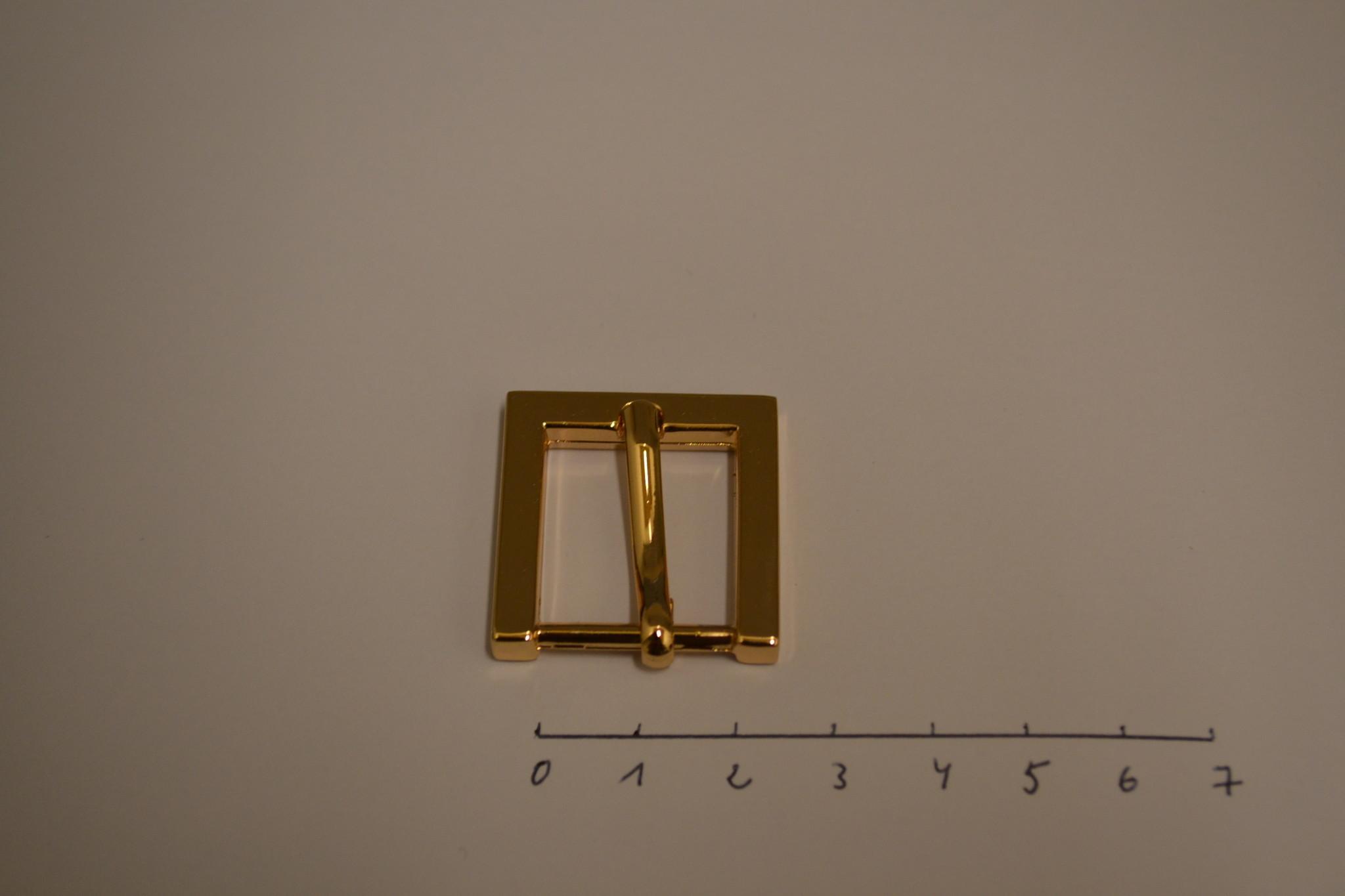 BU33 Vierkante gesp 20mm rosé goud