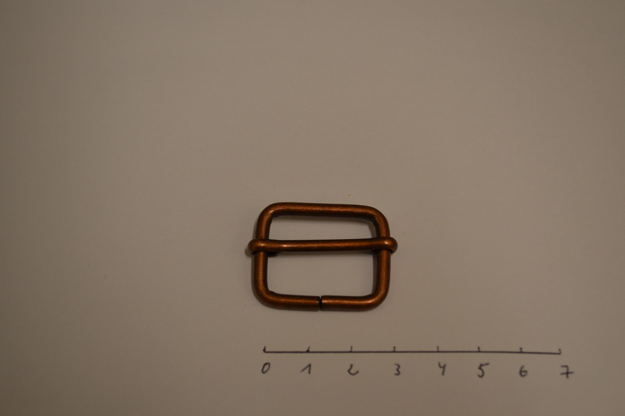 S14 schuifgesp 25x20x3.5  25mm brunito