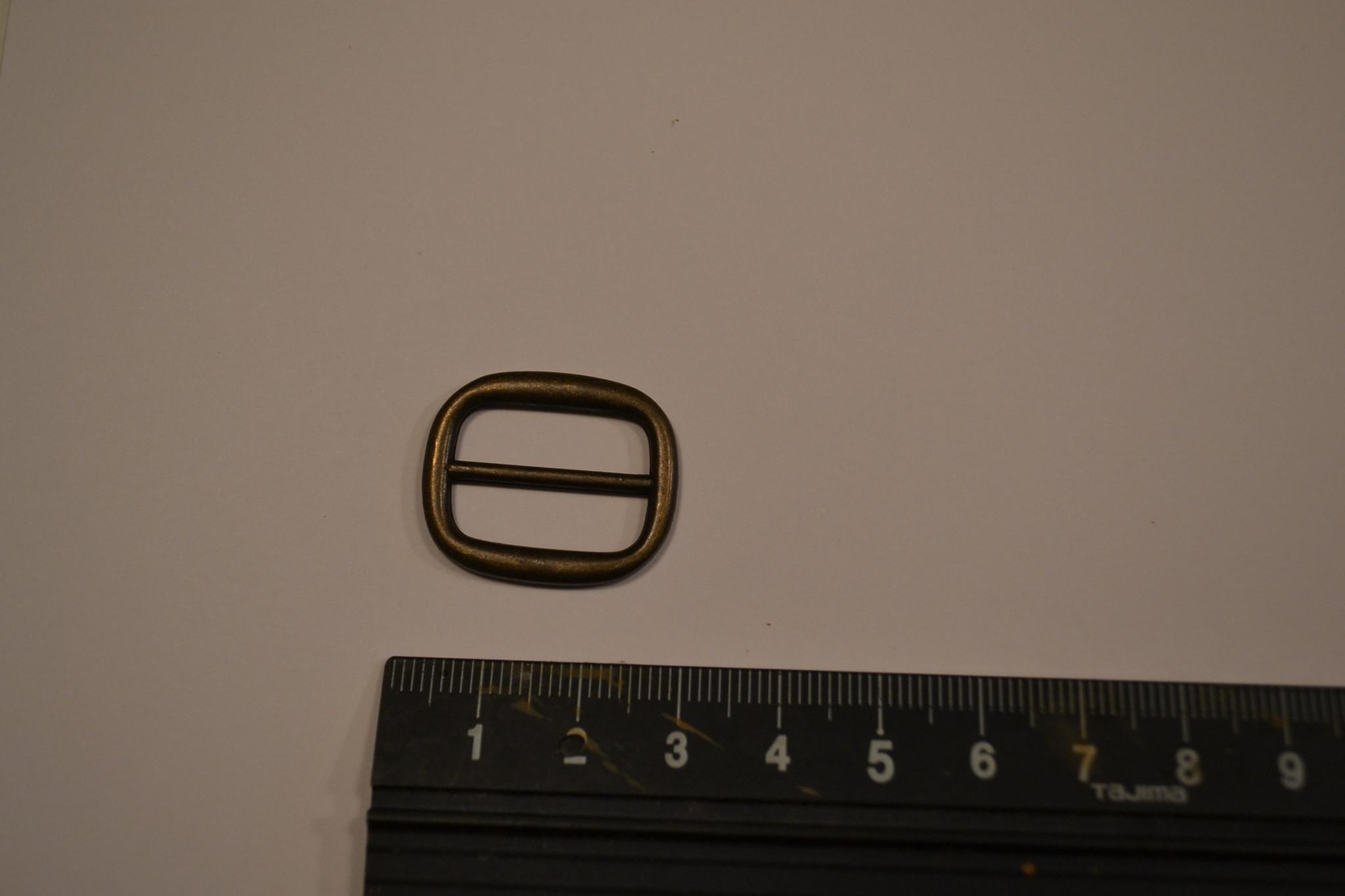 S19 Schuifgesp 20mm brons