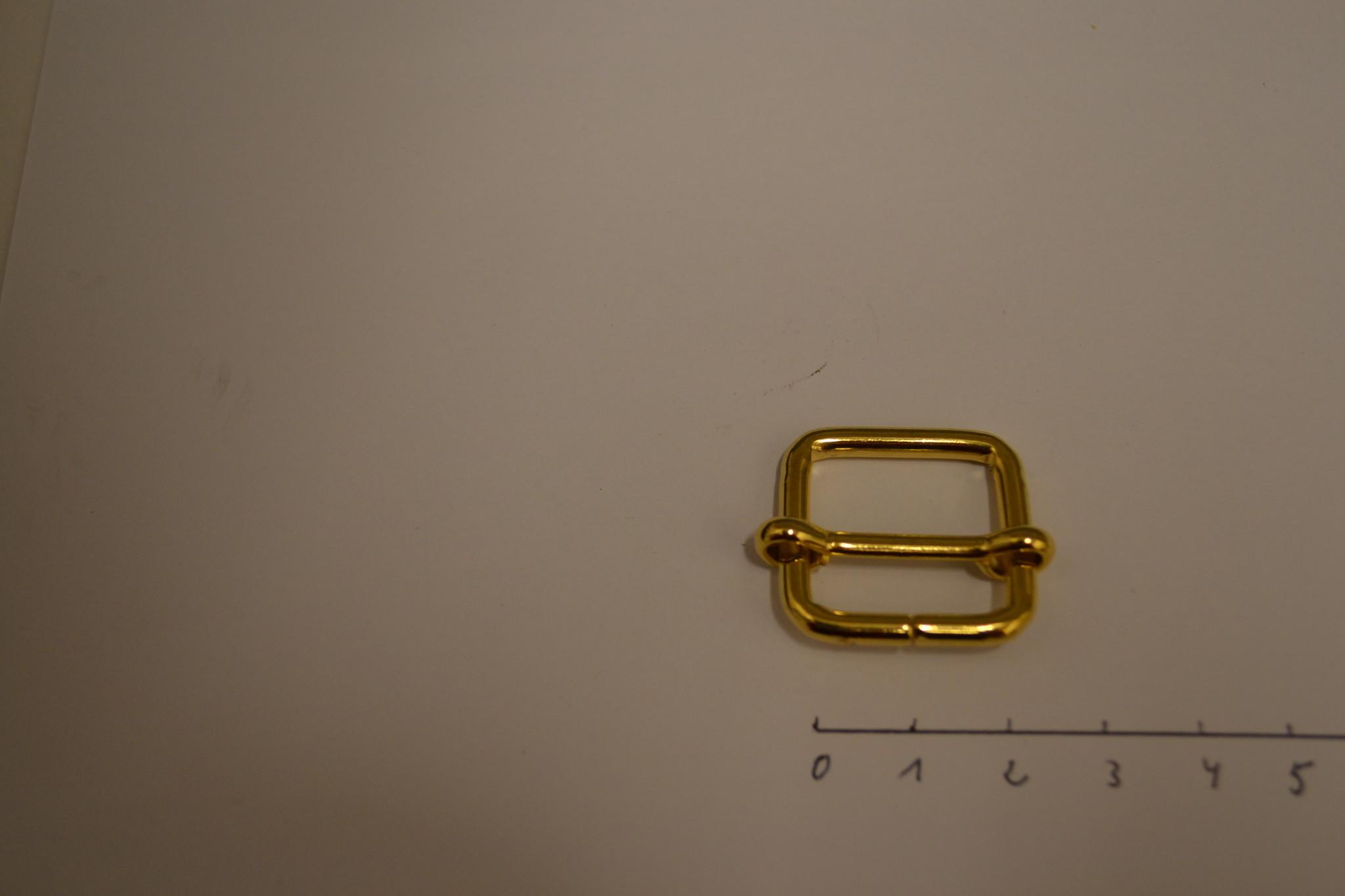 S26 Schuifgesp 20x20x3 goud