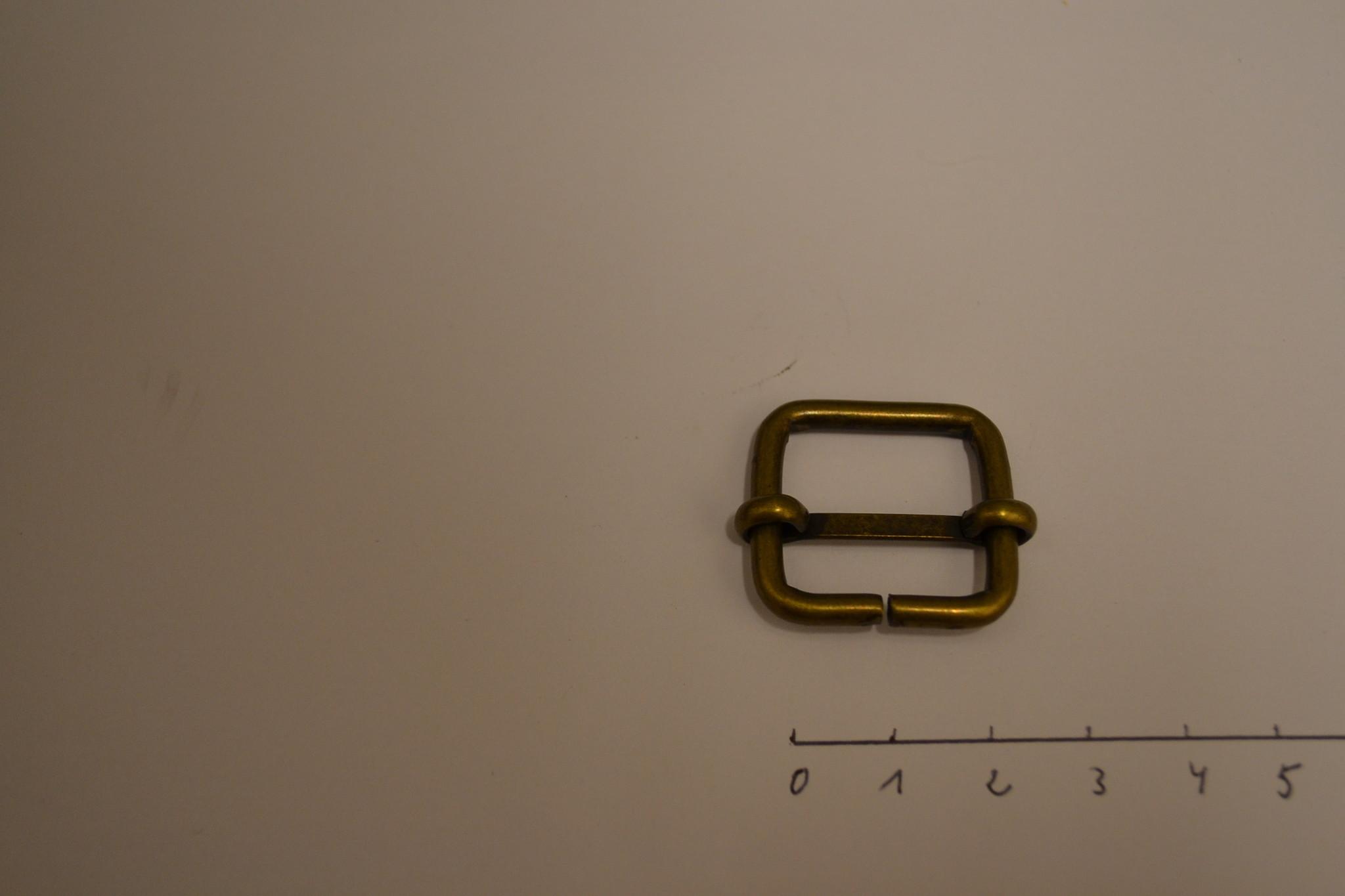 S27 Schuifgesp 20x20x3 brons