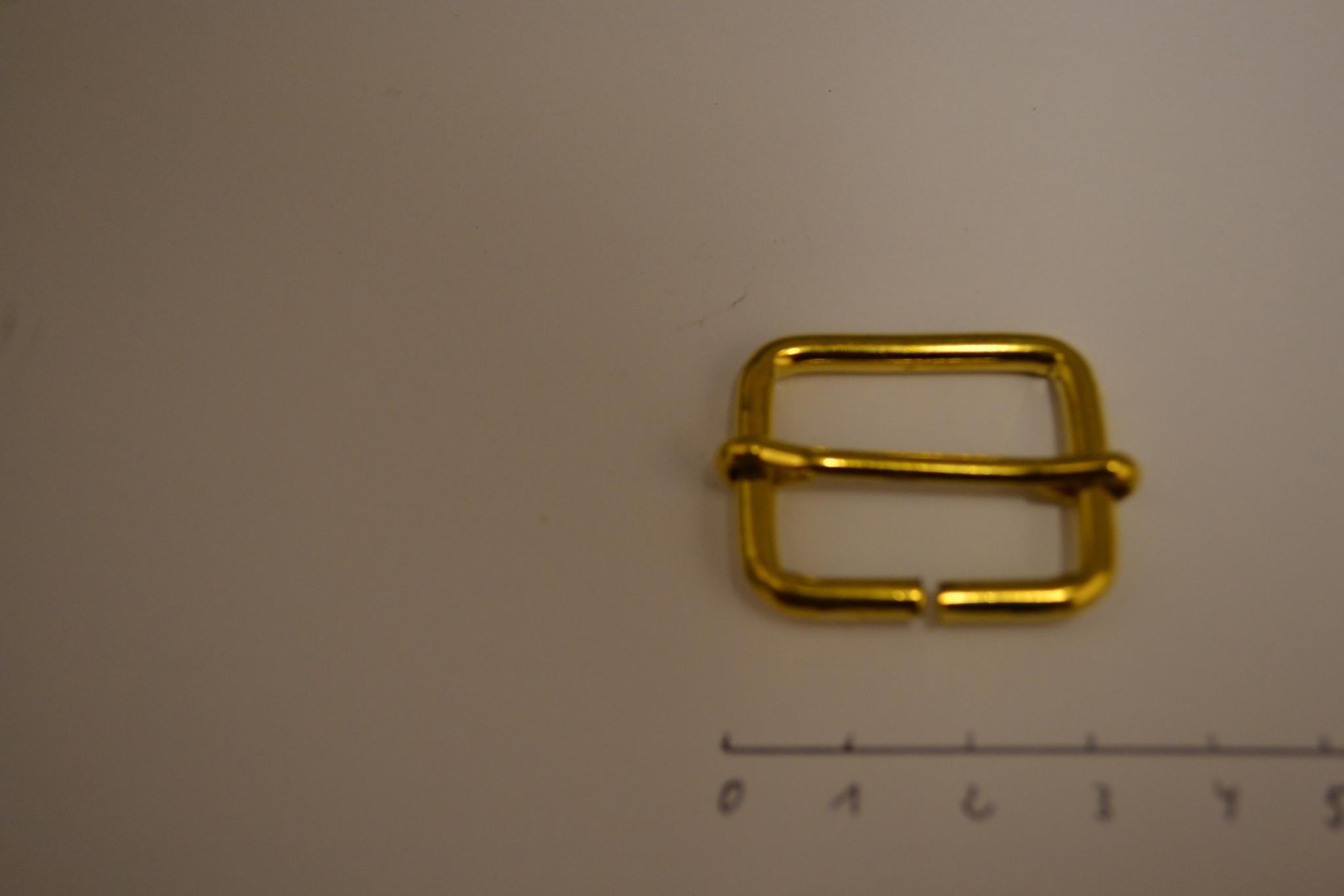 S28 Schuifgesp 25x20x3.5mm goud