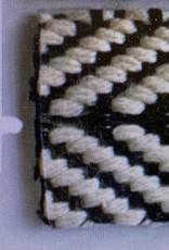 Tweekleurige katoenen draagriem 38mm NERO