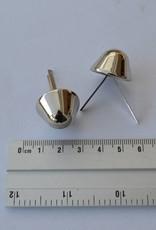 PO1 pootjes met splitpennen konisch zilver 22mm