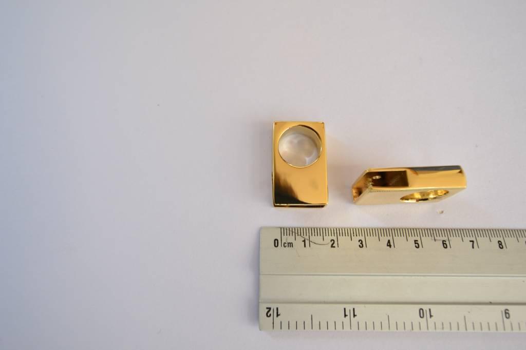 Draagriembevestiging goud 15mm