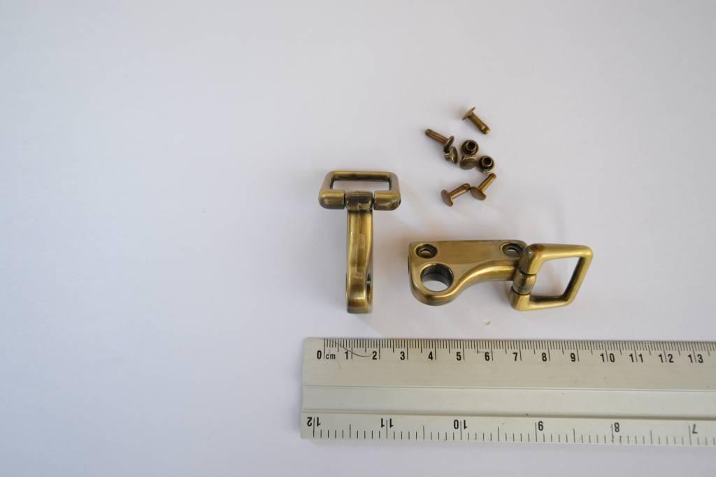 A67 Draagriembevestiging soufflet brons 20mm (per set)