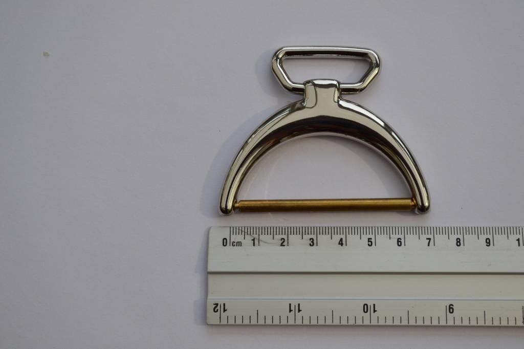 Draagriembevestiging zilver 30/60mm