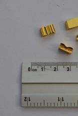 Ritsstopper goud rits 12mm