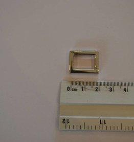 R27 Rechthoekige ring 15mm zilver