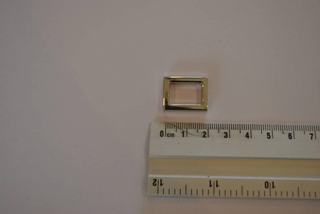 Rechthoekige ring zilver 15mm