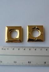 Oog vierkant goud (prijs per 2)